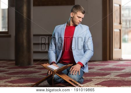 Businessman Muslim Praying In Mosque