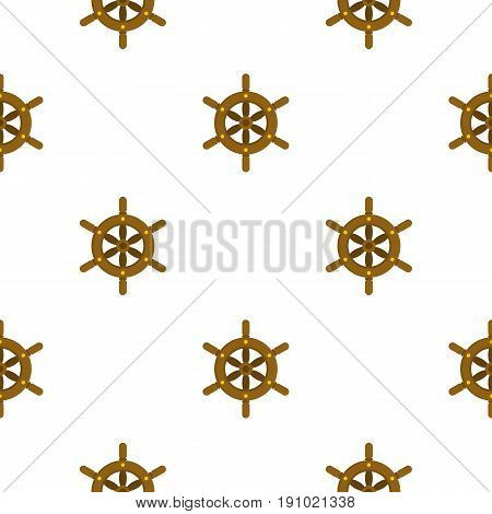 Ship wheel pattern seamless flat style for web vector illustration