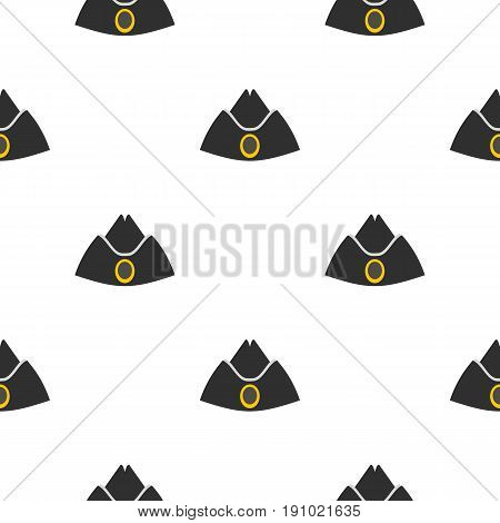 Forage cap pattern seamless flat style for web vector illustration