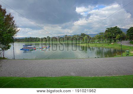 Parque Simon Bolivar in the heart of Bogota Colombia