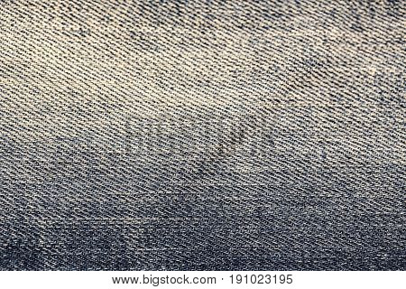 Blue Jeans texture background without seam sewing