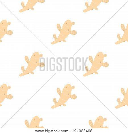 Fresh ginger pattern seamless flat style for web vector illustration