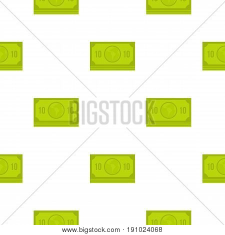 Green money banknote pattern seamless flat style for web vector illustration