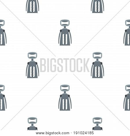 Metal corkscrew pattern seamless flat style for web vector illustration