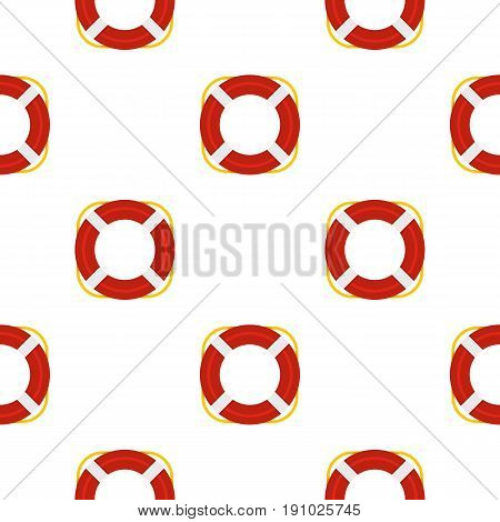 Lifebuoy pattern seamless flat style for web vector illustration