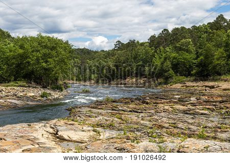 The Mountain Fork River near Broken Bow Oklahoma.