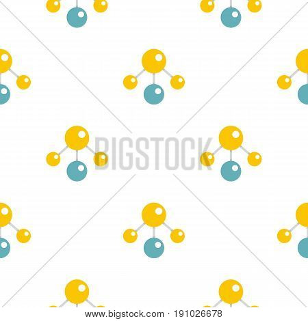 Yelllow and blue atomic structure pattern seamless flat style for web vector illustration