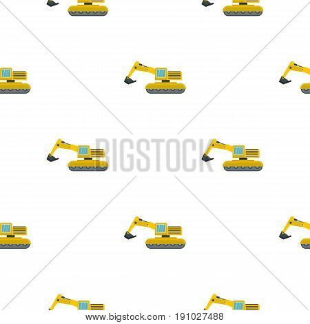 Excavator pattern seamless flat style for web vector illustration