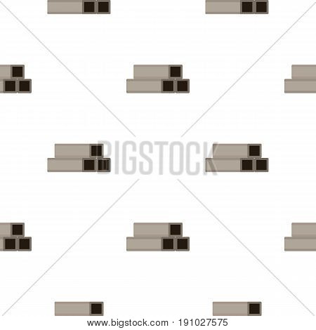 Square metal tubes pattern seamless flat style for web vector illustration