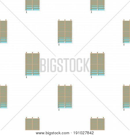 Window with wooden jalousie pattern seamless flat style for web vector illustration