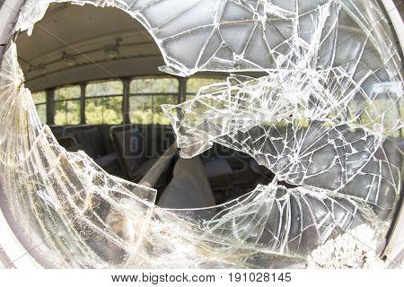 Broke Safety Glass On Bus