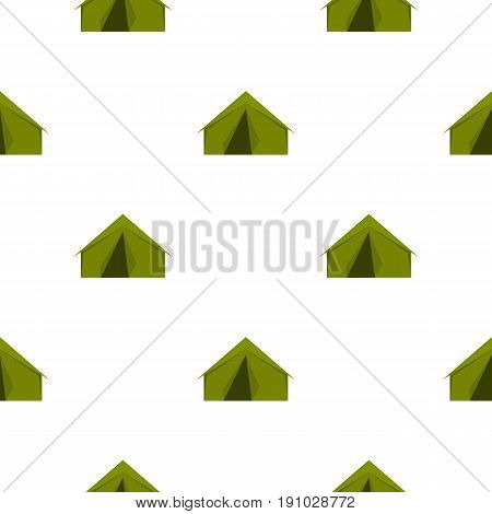 Tourist or a military tent pattern seamless flat style for web vector illustration