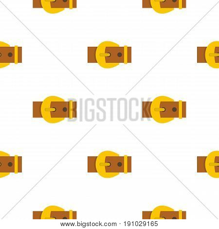 Gold buckle belt pattern seamless flat style for web vector illustration