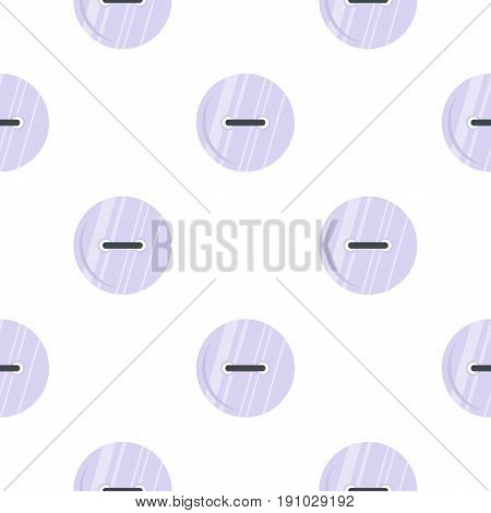 White clothing button pattern seamless flat style for web vector illustration