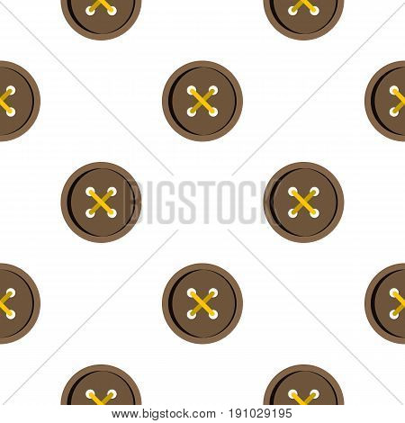 Brown clothing button pattern seamless flat style for web vector illustration