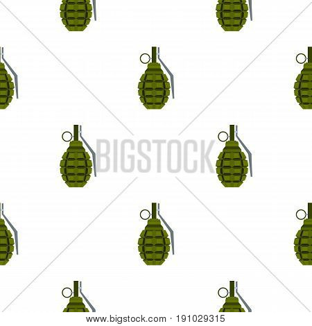 Hand grenade pattern seamless flat style for web vector illustration