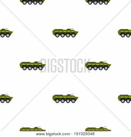 Armoured troop carrier pattern seamless flat style for web vector illustration