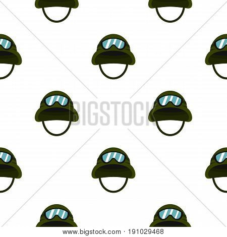 Military metal helmet pattern seamless flat style for web vector illustration
