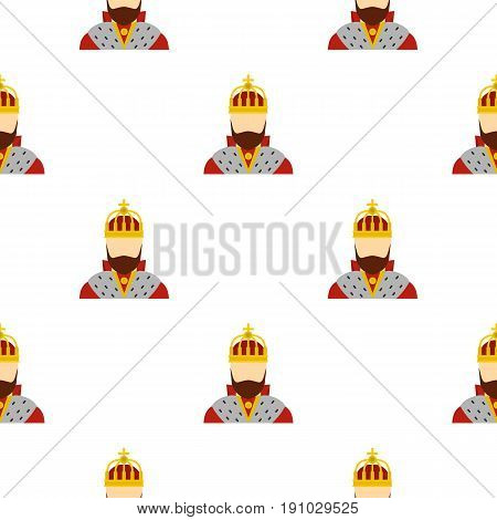 King pattern seamless flat style for web vector illustration