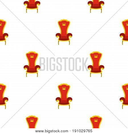 Red royal throne pattern seamless flat style for web vector illustration