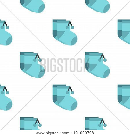 Baby socks pattern seamless flat style for web vector illustration