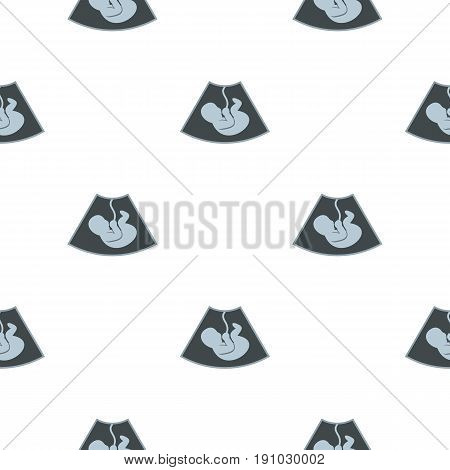 Ultrasound baby pattern seamless flat style for web vector illustration