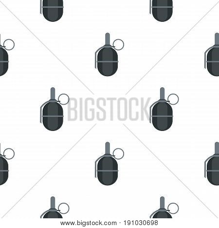 Hand paintball grenade pattern seamless flat style for web vector illustration