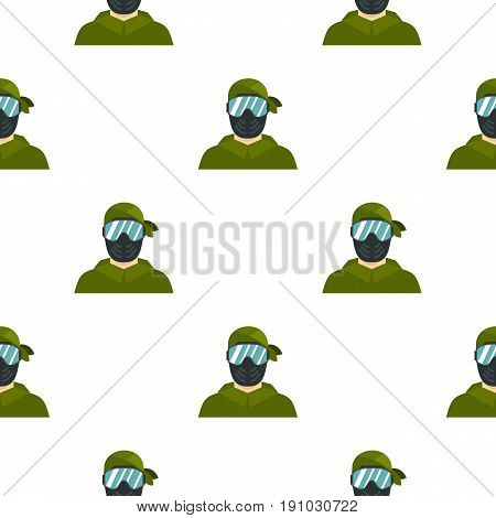 Paintball player pattern seamless flat style for web vector illustration