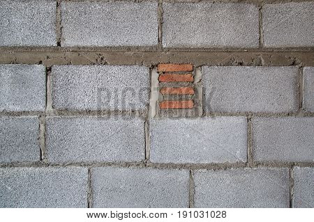 A building Hollow brick walls  background image