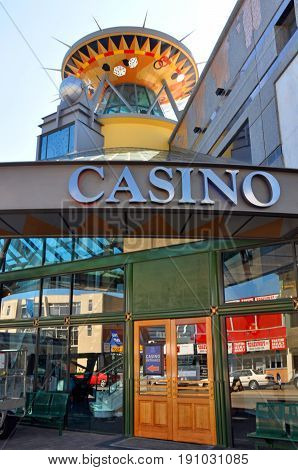 Christchurch New Zealand - October 29 2011: Christchurch Casino reopens for business following devastating February 2011 Earthquake.
