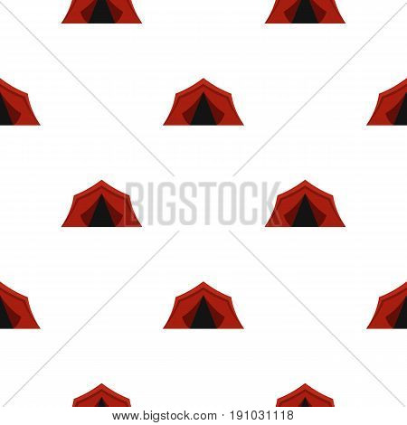 Camping tents pattern seamless flat style for web vector illustration