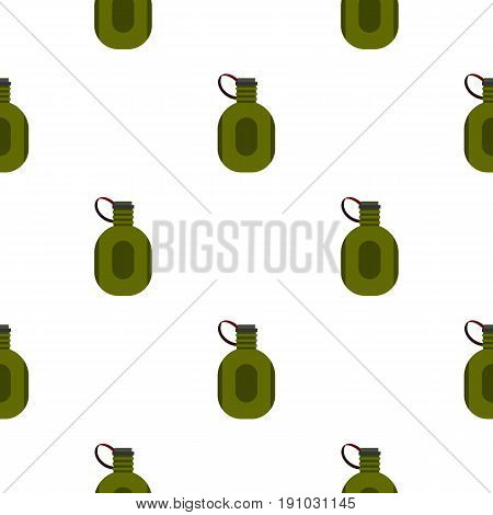 Water canteen pattern seamless flat style for web vector illustration