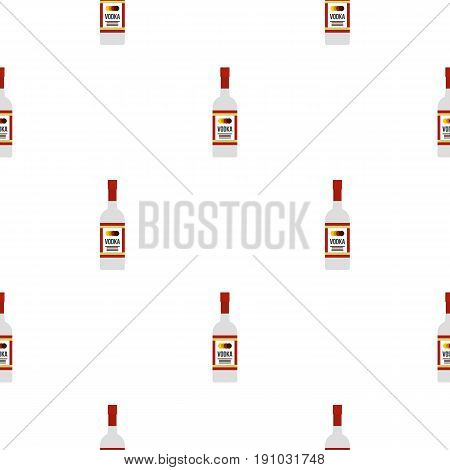 Vodka pattern seamless flat style for web vector illustration