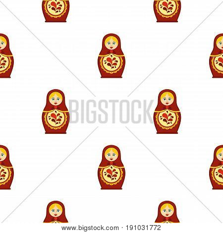 Matrioshka pattern seamless flat style for web vector illustration