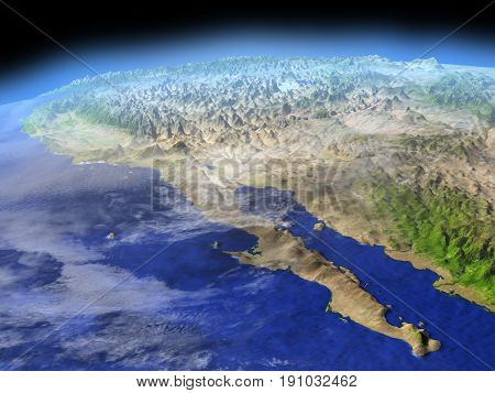 Californian Peninsula From Space