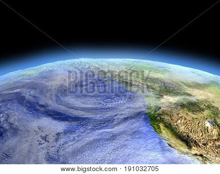 West Coast Of Canada From Space