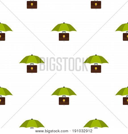 Umbrella and diplomat pattern seamless flat style for web vector illustration