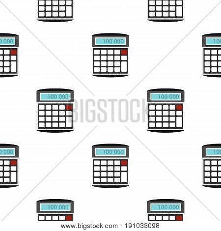 Calculator pattern seamless flat style for web vector illustration