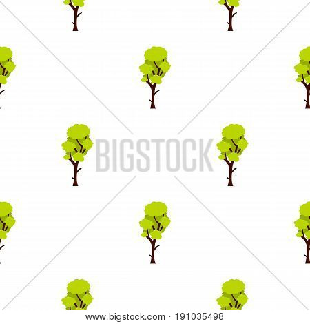 Tall green tree pattern seamless flat style for web vector illustration