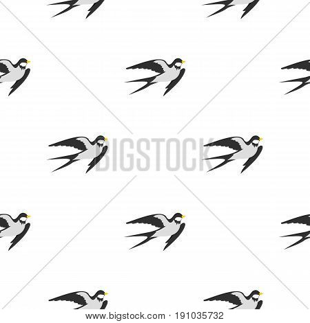 Swallow pattern seamless flat style for web vector illustration