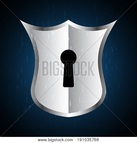 technology digital future abstract cyber security concept background shield keyhole lock vector illustration.