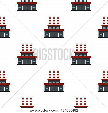 Large oil refinery pattern seamless flat style for web vector illustration