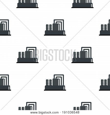 Equipment for production oil pattern seamless flat style for web vector illustration