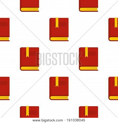 Thick book with bookmark pattern seamless flat style for web vector illustration