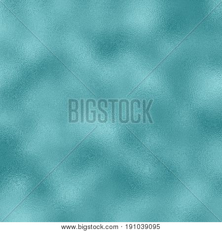 Frosted foil raster texture in teal blue color. Blue foil pattern tile. Christmas or New Year ice foil backdrop. Winter greeting card background. Teal blue gradient. Snow glass frosted texture swatch