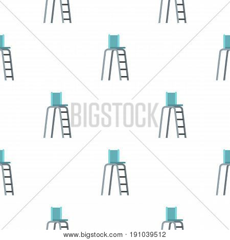 Tennis tower for judges pattern seamless flat style for web vector illustration