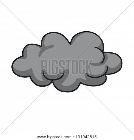Cool Grey Dark Clod Vector Illustration Drawing