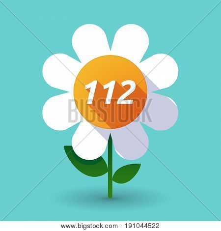 Long Shadow Flower With    The Text 112