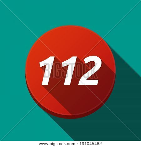 Long Shadow Round Buttonwith    The Text 112