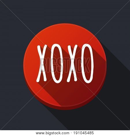 Long Shadow Round Buttonwith    The Text Xoxo